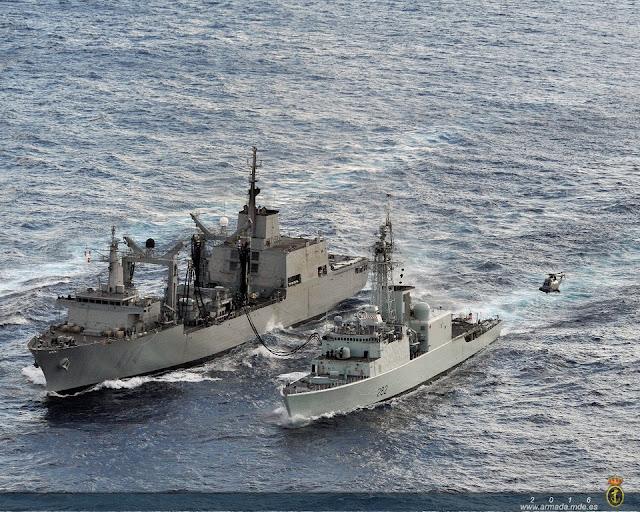 El BAC 'Patiño' finaliza con éxito su colaboración con la Marina Real Canadiense