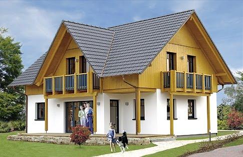 Casas de madera prefabricadas casas prefabricadas de for Como hacer una piscina en un segundo piso