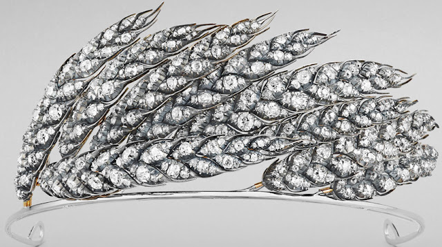 Empress Marie Louise of France Ears of Wheat Tiara Chaumet Nitot