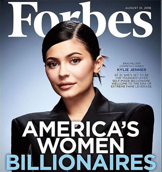 Kylie Jenner covers the latest issue of Forbes as she's set to become the youngest-ever self made billionaire