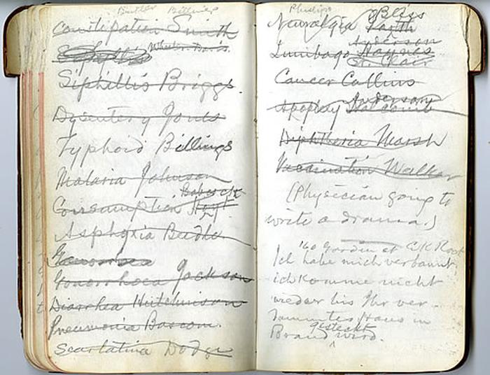 Mark Twain, diario, appunti, notes, pensieri, scrittura