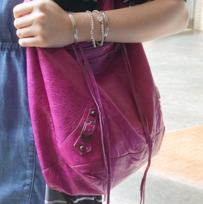 chambray, Balenciaga Day bag in 2005 magenta | AwayFromTheBlue
