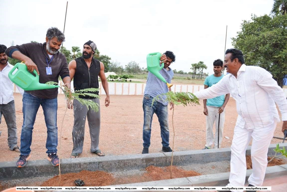 Baahubali star Prabhas also took part in the Haritha Haram programme