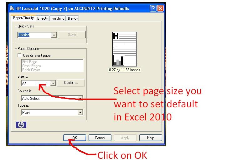 Edit a Custom Paper Size
