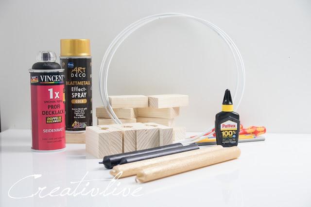 Portavelas diy circular para decorar tu hogar