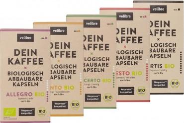 Bio-Kaffee-Kapseln von Velibre