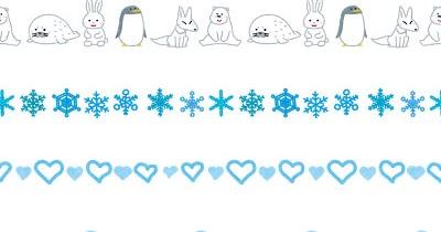 いろいろな冬のイメージのライン素材 かわいいフリー素材集 いらすとや
