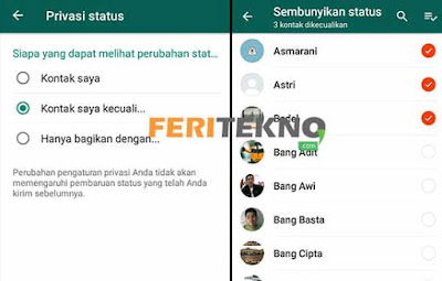 Cara Hide Story WhatsApp 3