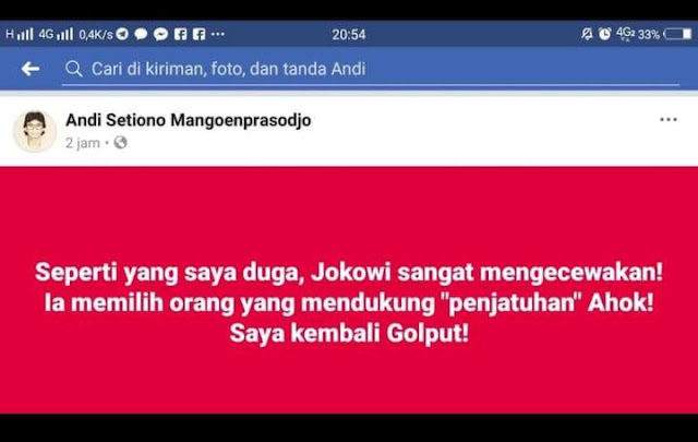 Ahoker Shock Jokowi Pilih Maruf Amin, Rame-Rame Serukan Golput
