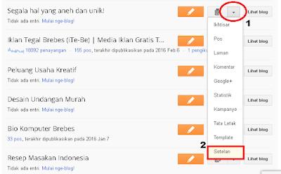 Cara mengubah alamat blog di blogger [Khusus Pemula]