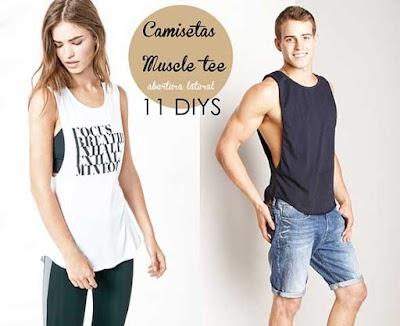 Camisetas abiertas en el lateral o muscle tee