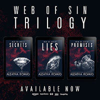 Photo of three book Web of Sin Series