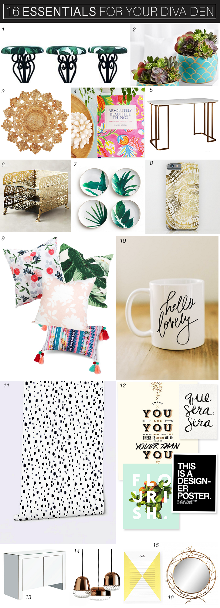 16 trendy essentials for the #girlboss! #inspiration #office #decor #chic #girlboss