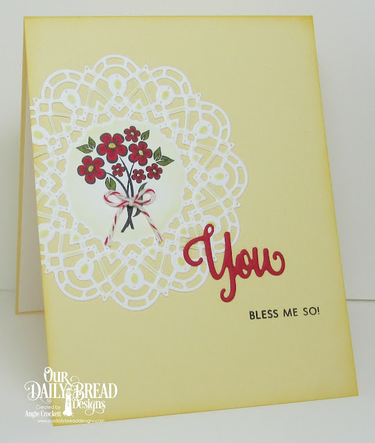 ODBD You Bless Me So Stamp/Die Duo, ODBD Custom Doily Dies, Card Designer Angie Crockett