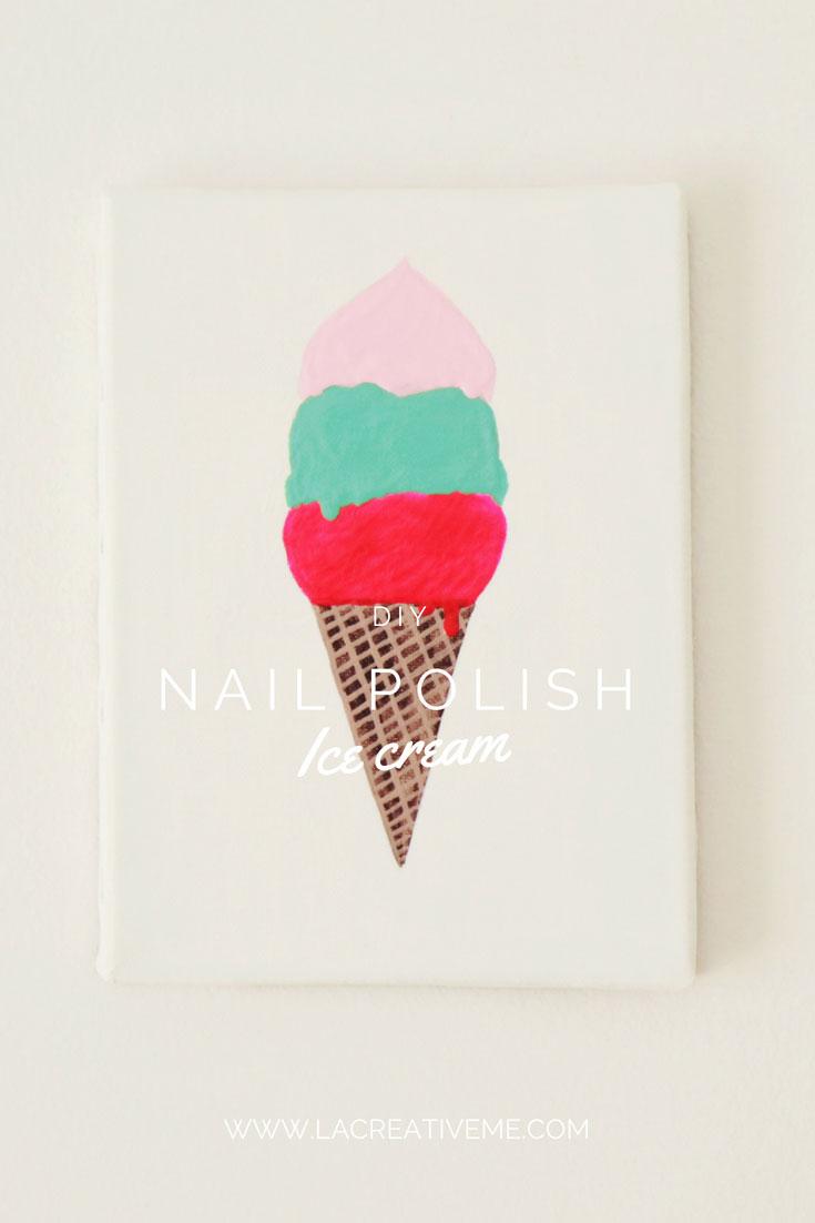 Nail Polish Ice Cream Painting