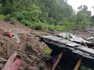 Lodhoma landslide in Darjeeling District