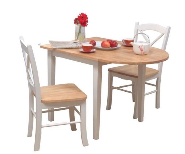 meja makan 2 kursi untuk rumah yang memiliki ruang makan sempit