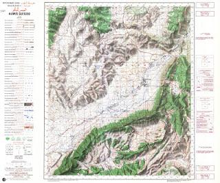 AL  MIS-GUIGOU1977 Morocco 50000 (50k) Topographic map free download