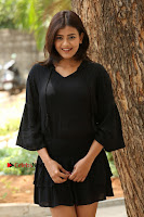 Actress Hebah Patel Stills in Black Mini Dress at Angel Movie Teaser Launch  0069.JPG