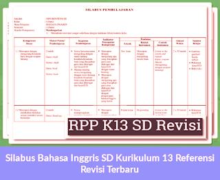 Silabus Bahasa Inggris SD Kurikulum 13 Referensi Revisi Terbaru