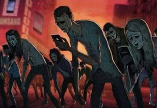Zombie Facebook, Zombie Android, Zombie handphone, Zombie Modern