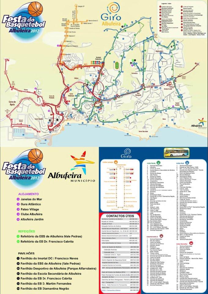 giro albufeira mapa ASC/BVRM: Mapa de apoio para a Festa do Basquetebol em Albufeira giro albufeira mapa