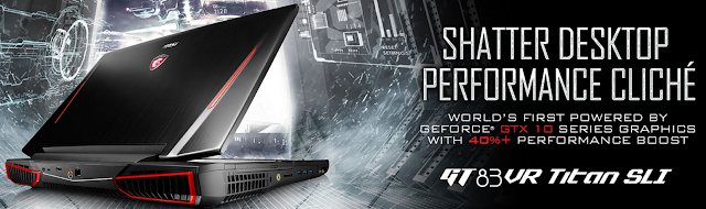 Excellent MSI GT83VR Titan SLI, complete with new Cherry MX speed switches and dual 1080 GPUs