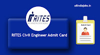 RITES Civil Engineer Admit Card