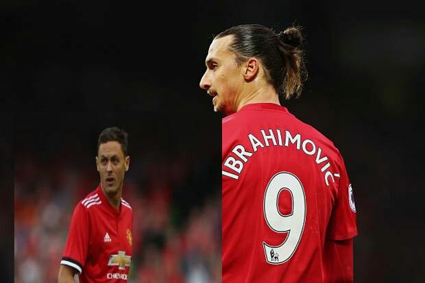 Manchester United Nemanja MATIC and Zlatan Ibrahimovic