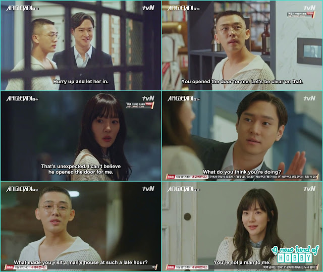 Jin o open the door for seo jeon when she came to visit se joo - Chicago Typewriter: Episode 6