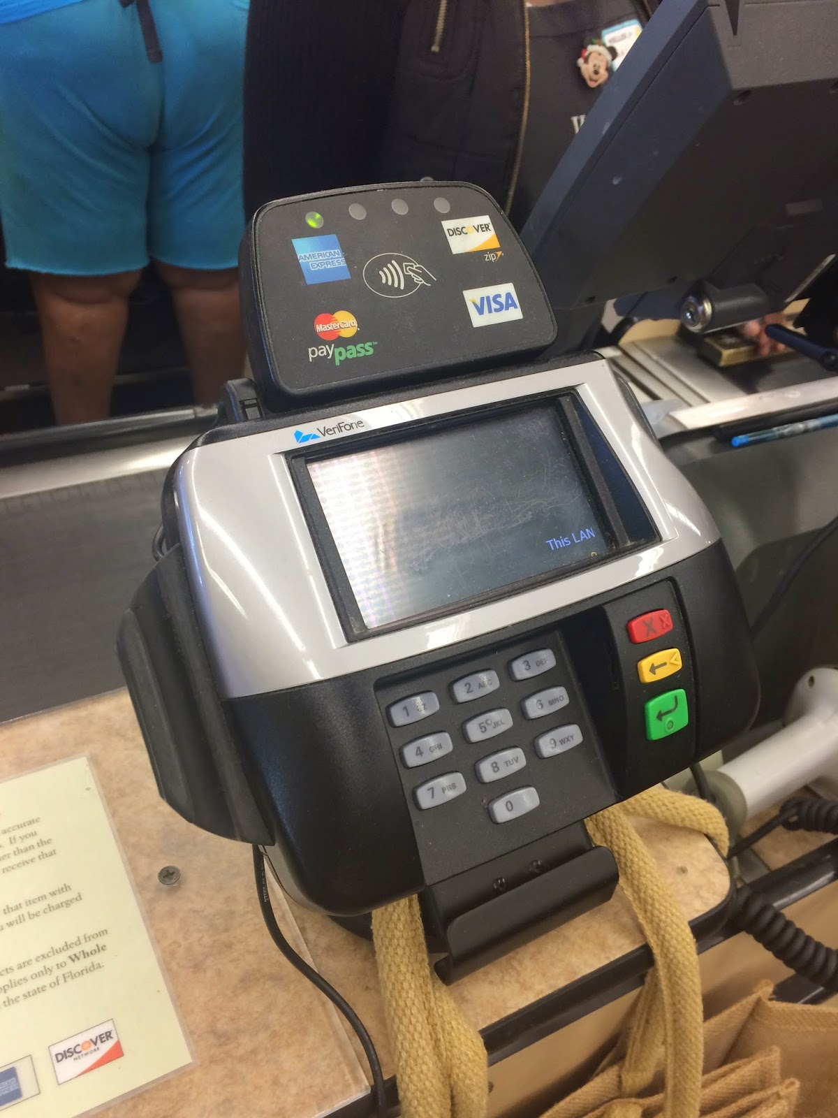 Credit Card Terminal At Super Market