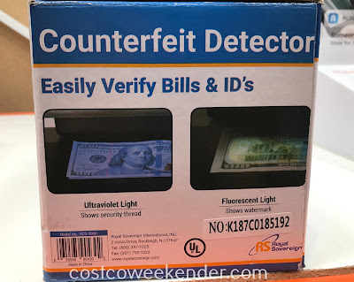 Royal Sovereign Counterfeit Detector: great for large and small businesses alike