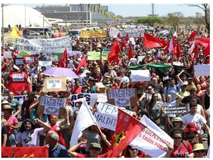 100 mil são esperados no #OcupaBrasília para derrubar Temer e exigir Diretas Já