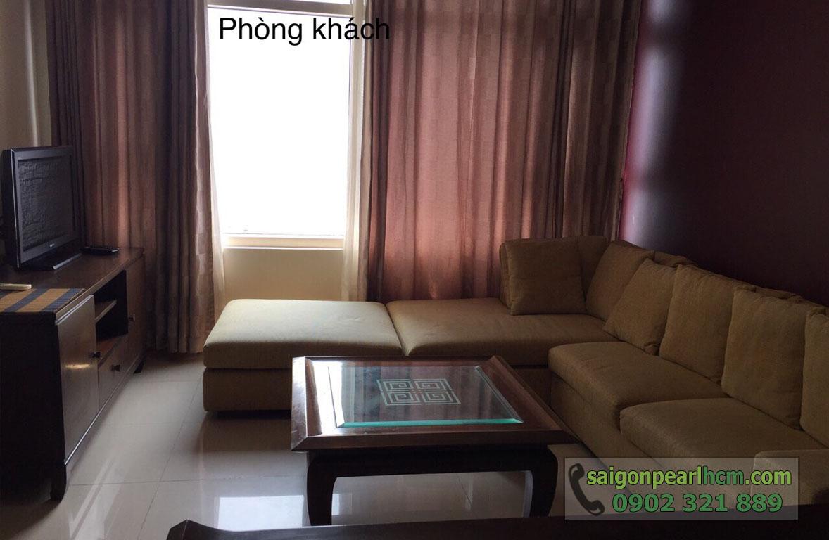 Saigon Pearl Bình Thạnh cho thuê căn hộ 2 phòng ngủ phòng khách