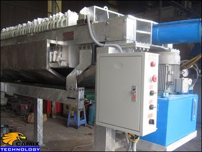 Công ty tư vấn mua sắm đầu tư thiết bị xử lý nước thải nhà máy thủy sản - Máy ép bùn dạng khung bản