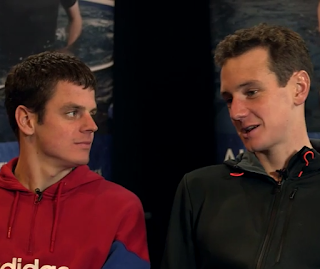 Olympic triathletes Jonathan and Alistair Brownlee