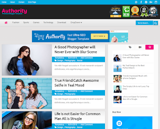 Authority Photography Blogger Template