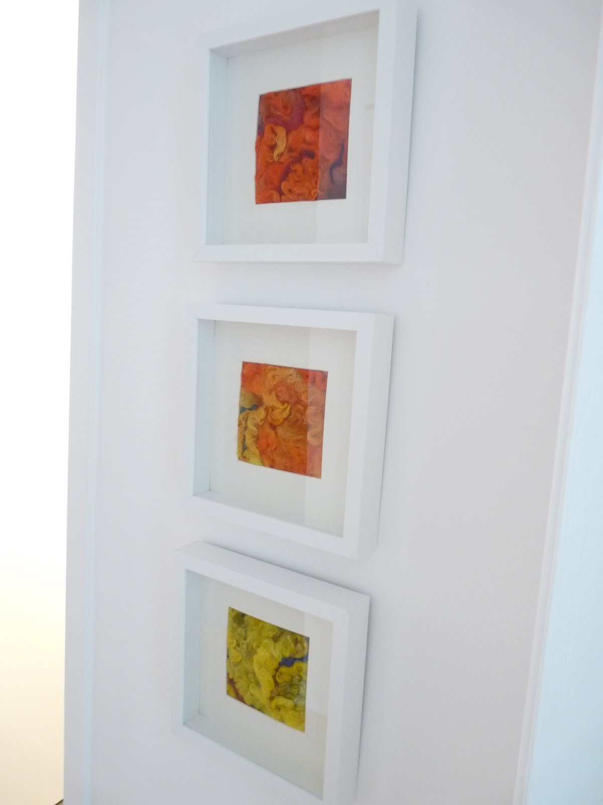 DIY needle felted abstract art