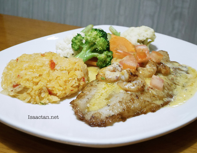 Scampi Topped Grilled Fish - RM29.95