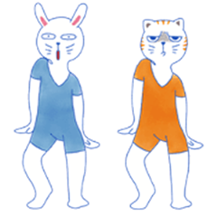 Stupid Rabbit & Angry Cat