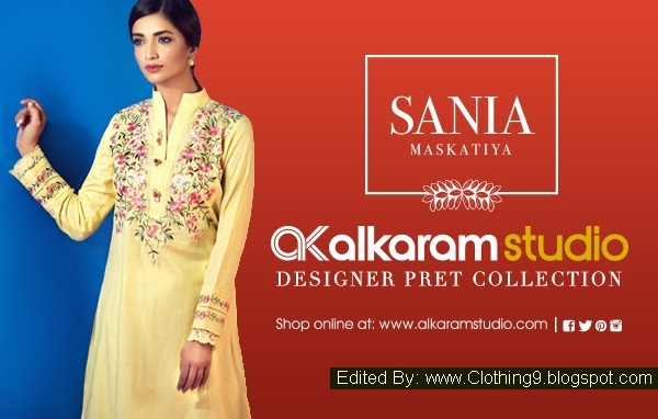 Alkaram Sania Maskatiya Pret Eid Collection 2015 Designs