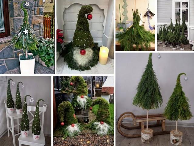 Χριστουγεννιάτικα δέντρα μινιατούρες από ΚΛΑΔΙΑ