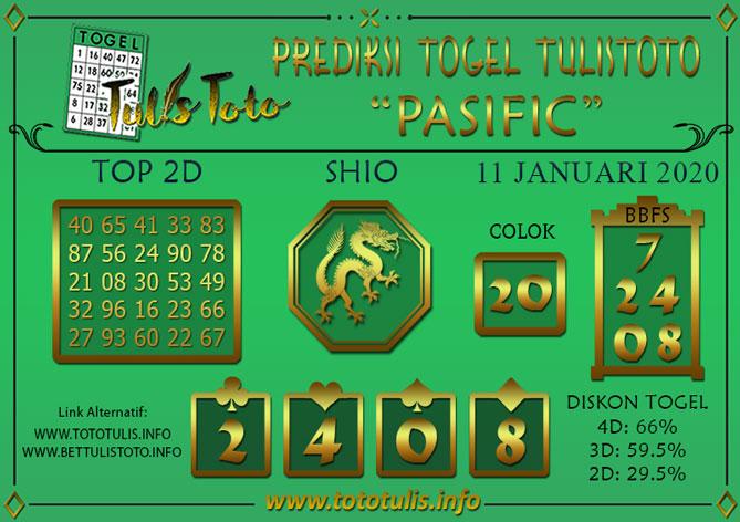 Prediksi Togel PASIFIC TULISTOTO 11 JANUARI 2020