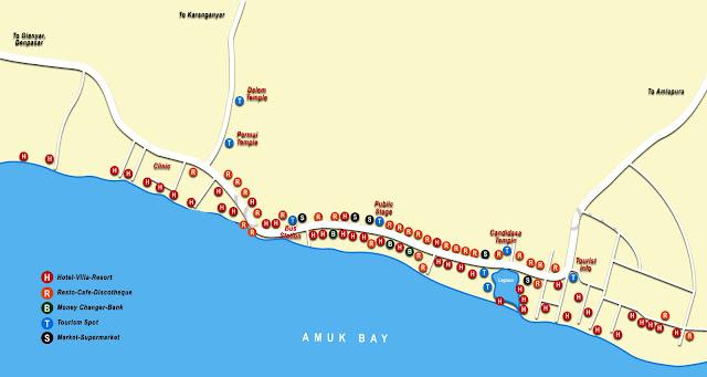 Peta Kota Candadisa Bali