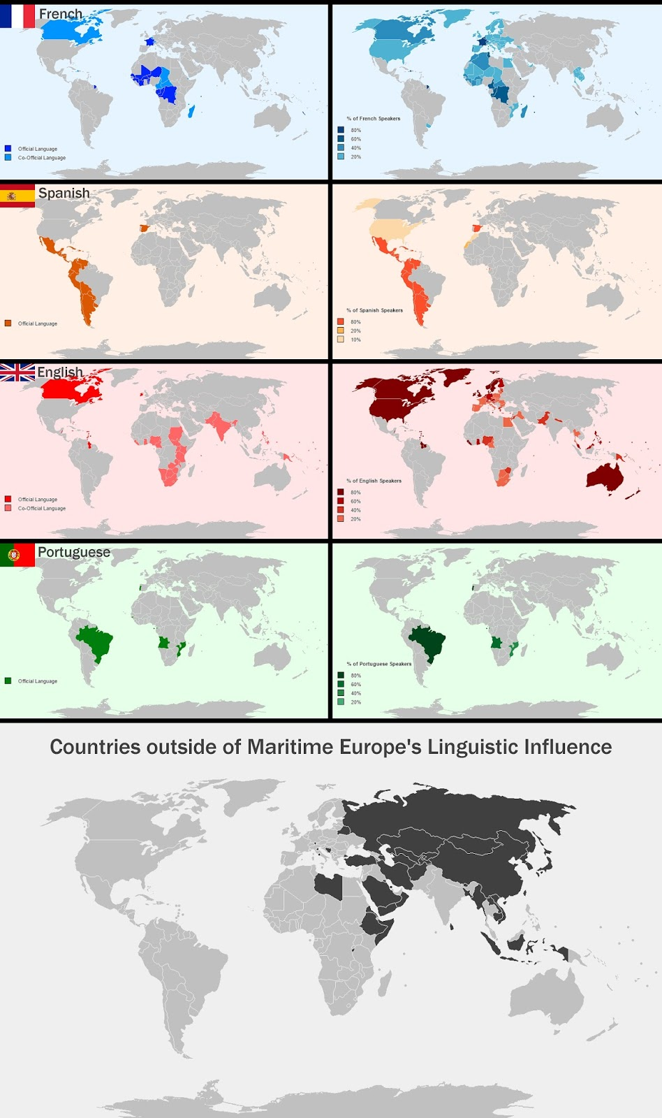 Maritime Europe's Linguistic Sphere of Infuence