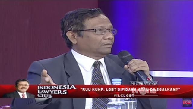 Mereka Bilang LGBT Ciptaan Tuhan, Prof Mahfud MD : Tuhan Juga Menciptakan Iblis dan Kita Harus Lawan