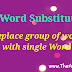 One word substitutions in English [ word replacement ]