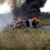 Vídeo: Carreta fica destruída após pegar fogo na BR-242, no município de Ruy Barbosa