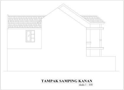 Fasad rumah minimalis tampak samping