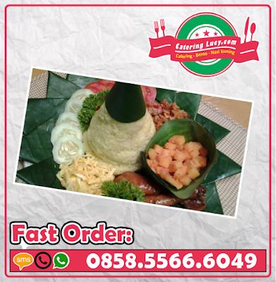Tumpeng Nasi Putih Sederhana Purwokerto